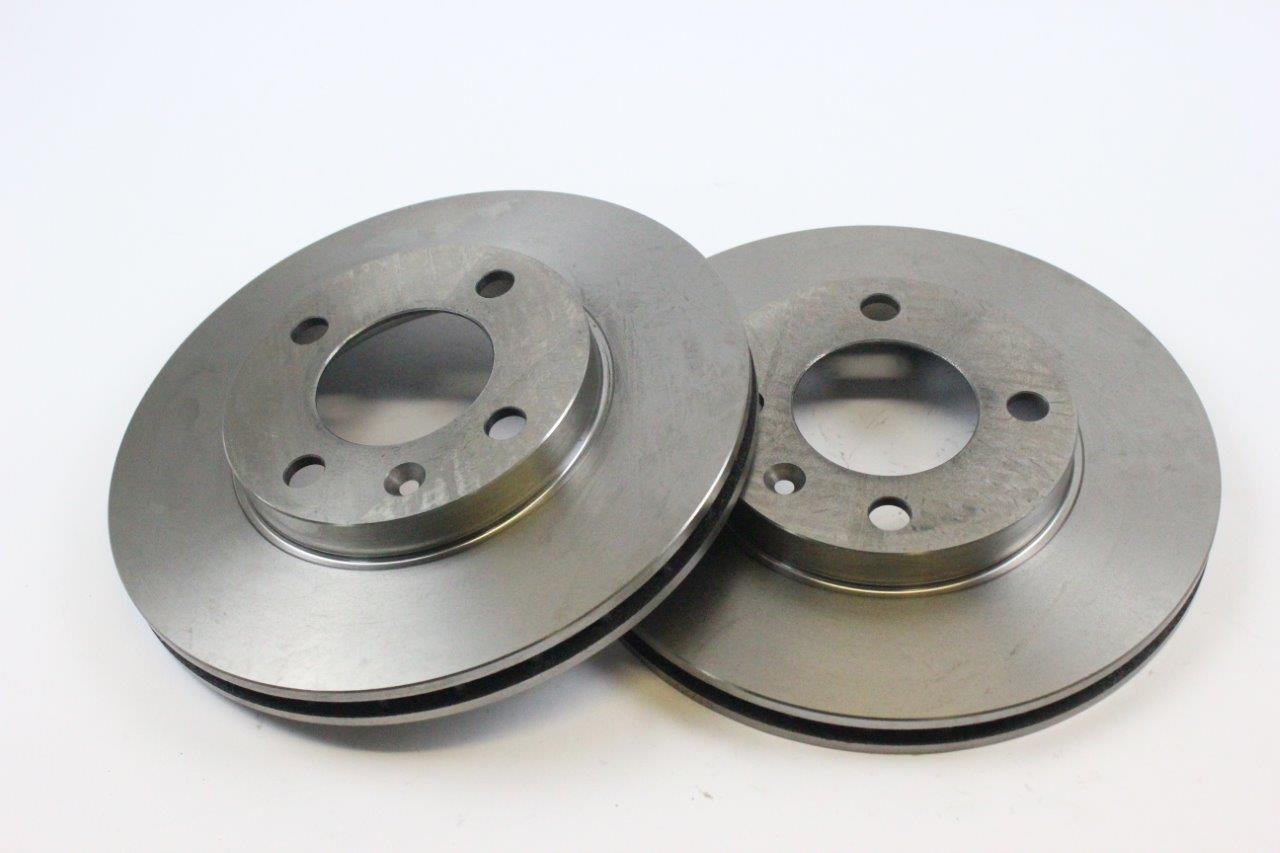 front vented brake discs